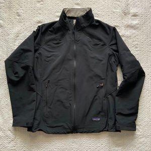Patagonia black full zip windbreaker coat large